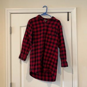 Red/Black Flannel Top
